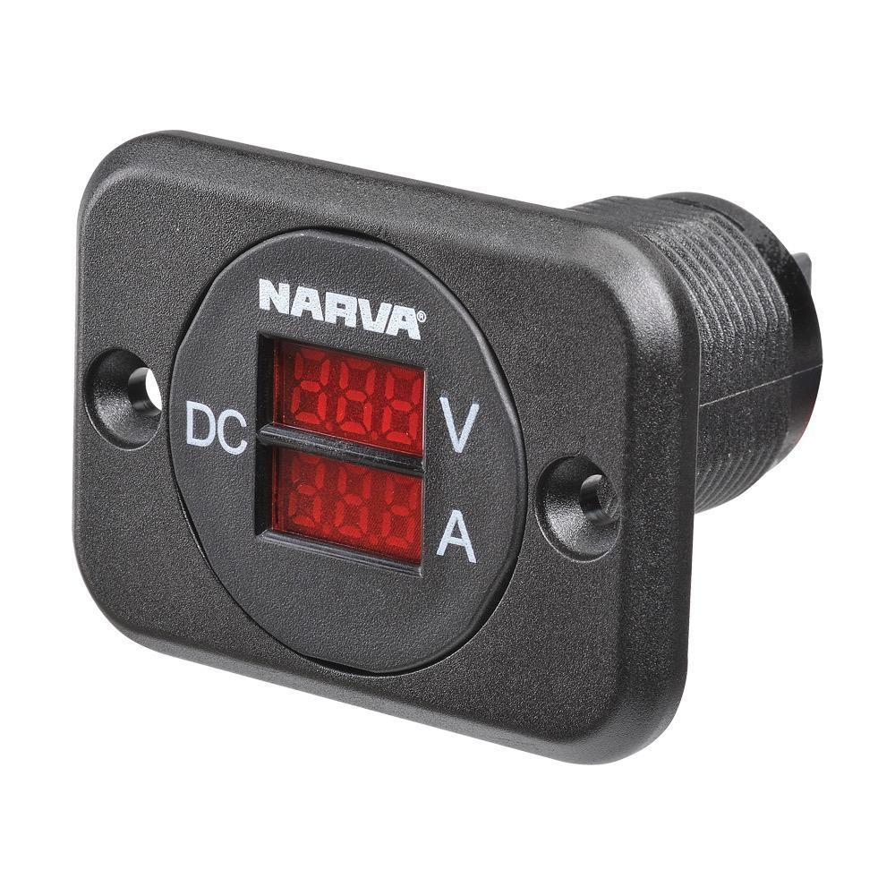 Narva 12/24V DC L.E.D Volt and Amp Meter