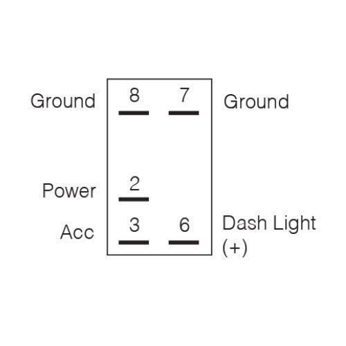 "Narva 12/24V Off/On L.E.D Illuminated Sealed Rocker Switch with ""Anchor Lights"" Symbol (Blue)"