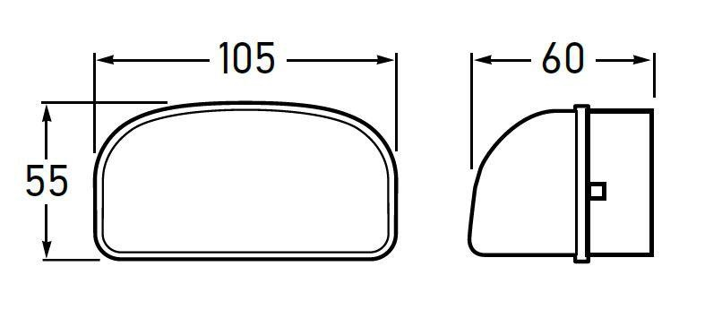 Hella Licence Plate Lamp - Surface Mount