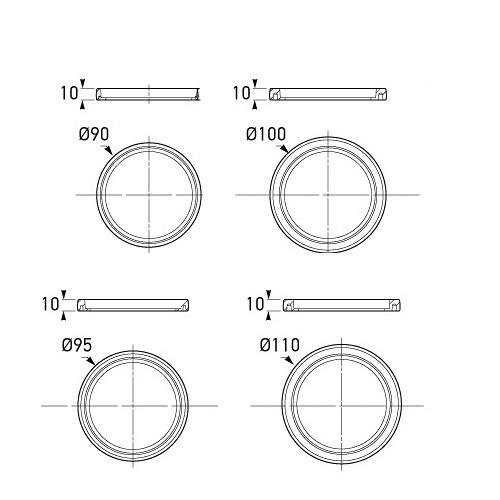 Hella Mounting Ring to suit 83mm Round Lamp