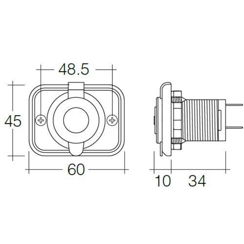 Narva Heavy-Duty Accessory Socket - White for RV & Marine Applications - Blister Pack