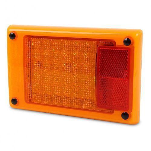 Hella Jumbo LED Module Rear Direction Indicator Lamp w/ Red Retro Reflector - Multivolt