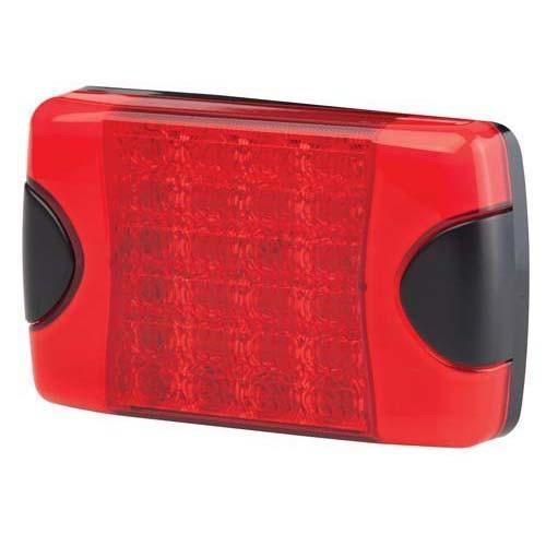 Hella DuraLED Warning Signal Lamp - Surface Mount Dual Function, Multivolt - Red