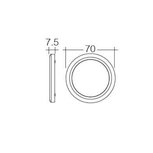Narva 10-30V L.E.D 3W Chrome Bezel Round Interior Lamp w/ Touch Sensitive On/Dim/Off Switch
