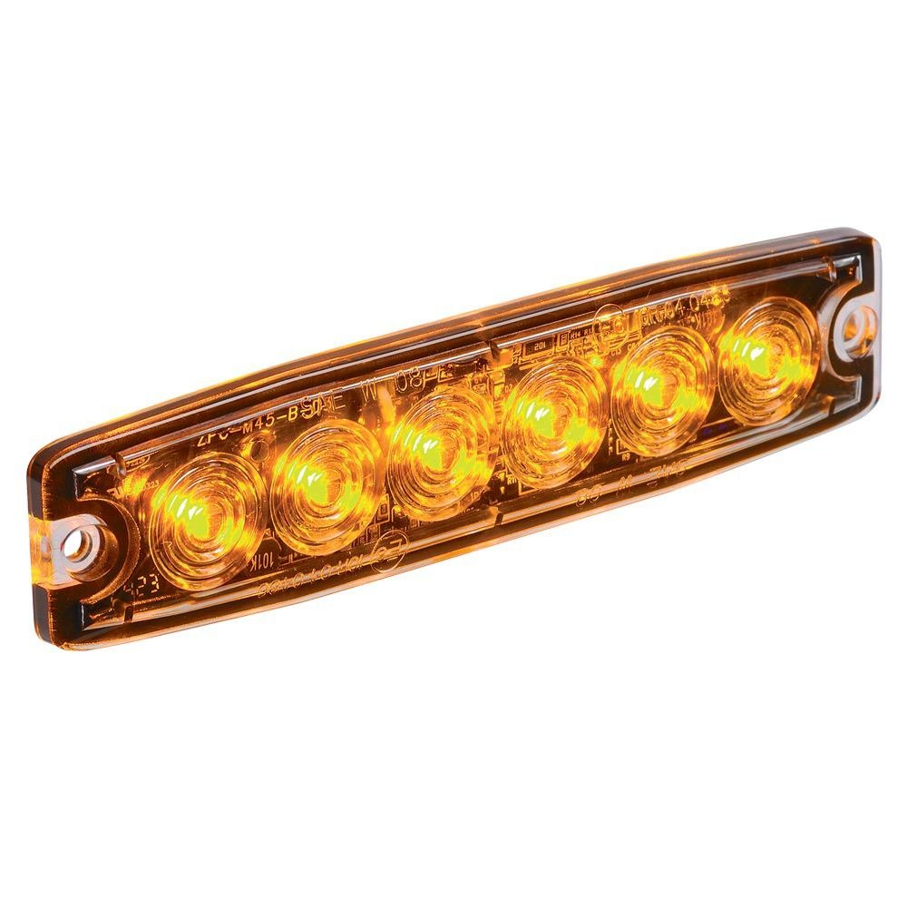 Narva 12/24V High Powered Low Profile L.E.D Warning Light 6 x 1 Watt L.E.Ds w/ 23 Flash Patterns