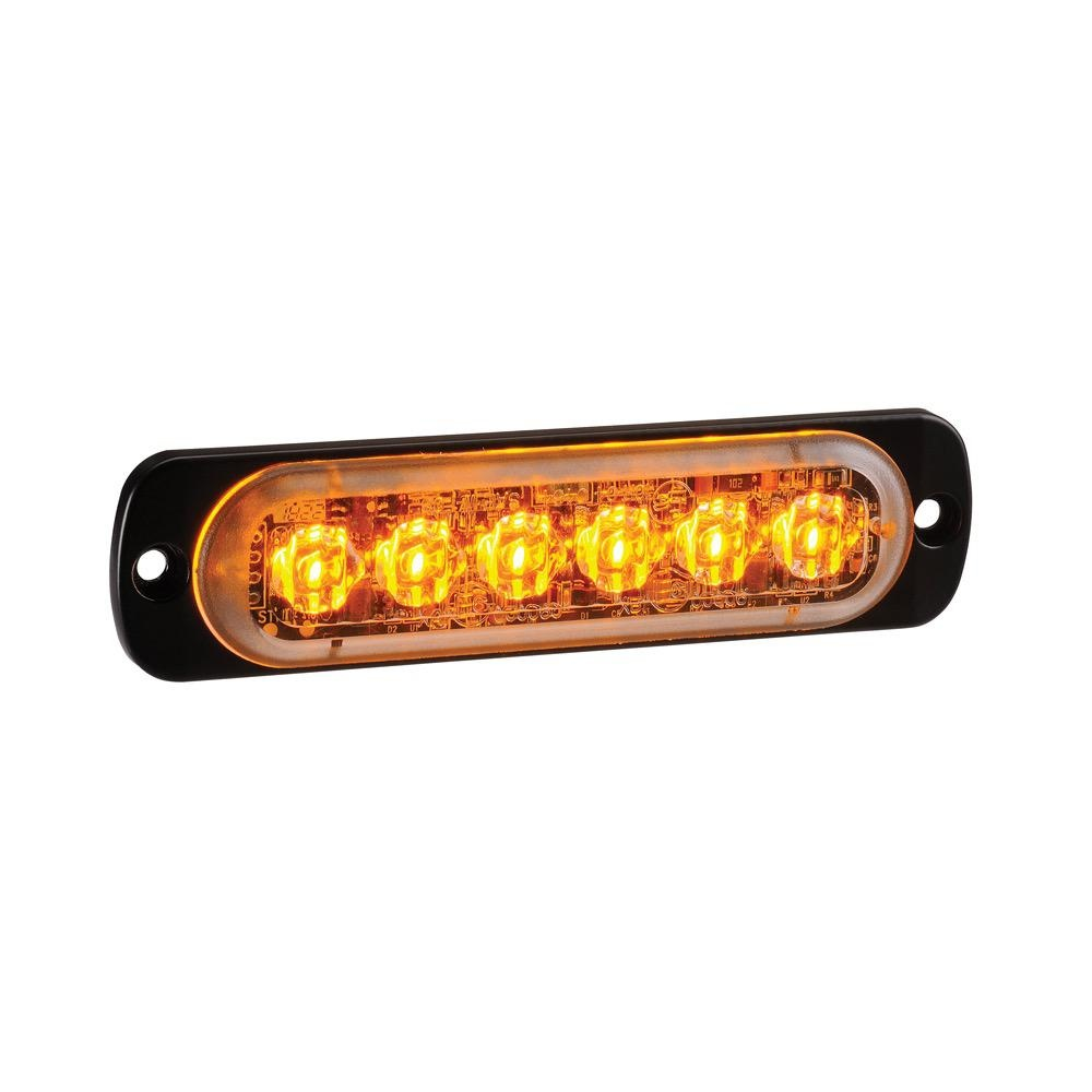Narva 12/24V Undercover Low Profile L.E.D Warning Lamp 6 x 1W L.E.Ds w/ 23 Flash Patterns