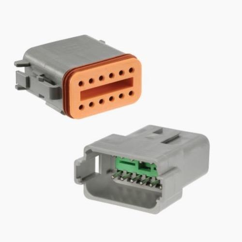 Narva 12 Way Waterproof Deutsch Connector - 10 Pack Pair (Male/Female)