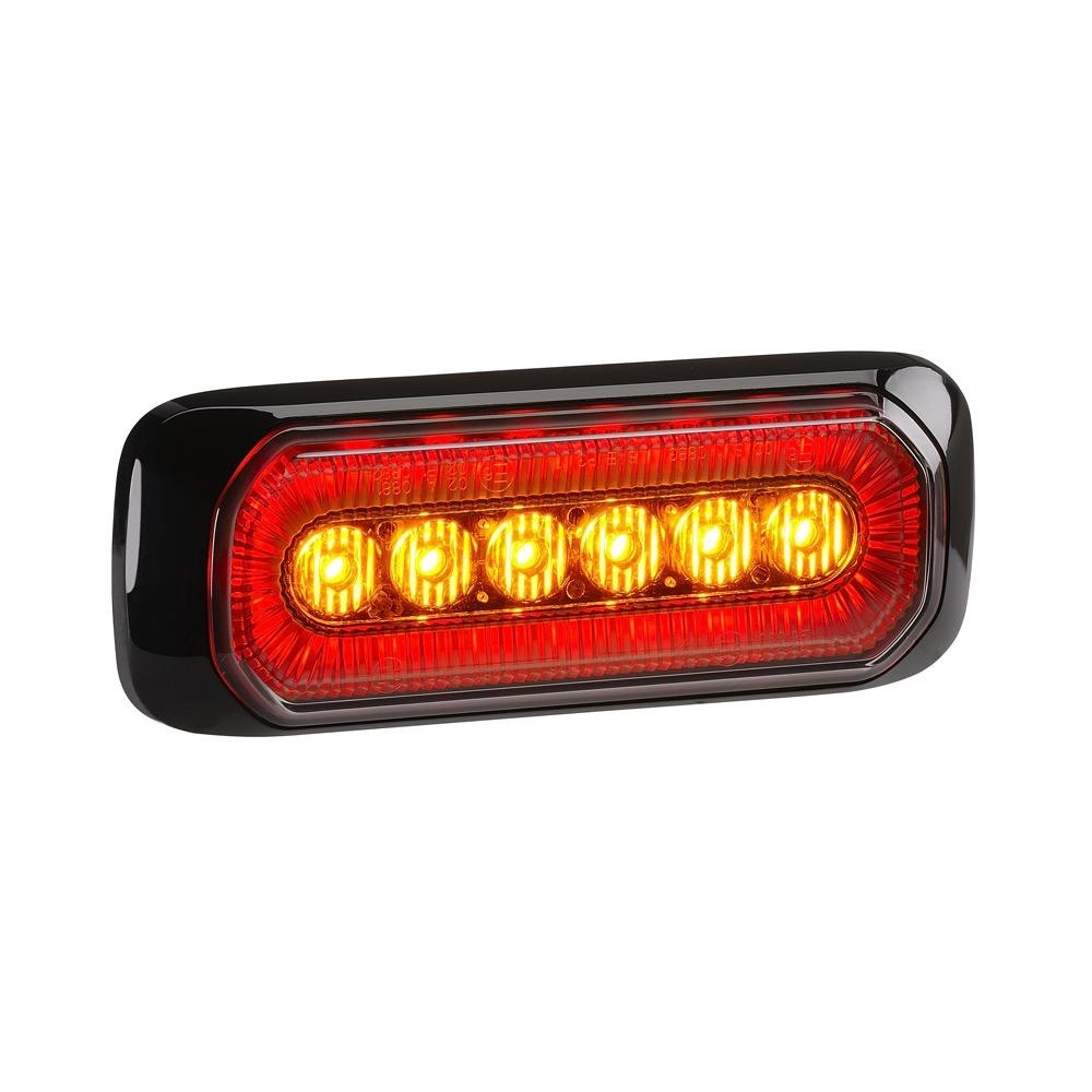 Narva 12/24V 'Halo' High Power L.E.D Warning (Amber) Rear End Outline Marker Lamp (Red)