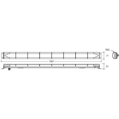 Narva 12 or 24 Dual Voltage L.E.D Traffic Master Arrow Bar