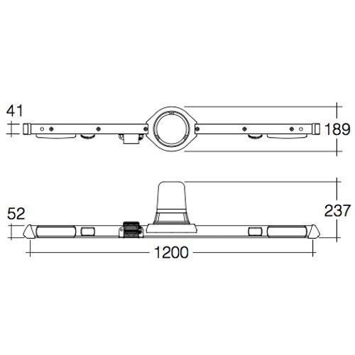 Narva 12V Halogen Rotating Utility Bar - 1.2m - w/o Reversing Alarm