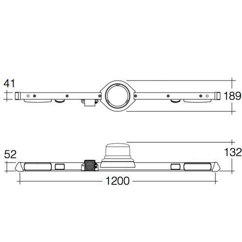 Narva 12/24V L.E.D Low Profile Rotating Strobe Utility Bar - 1.2m - w/ Broadband Reversing Alarm