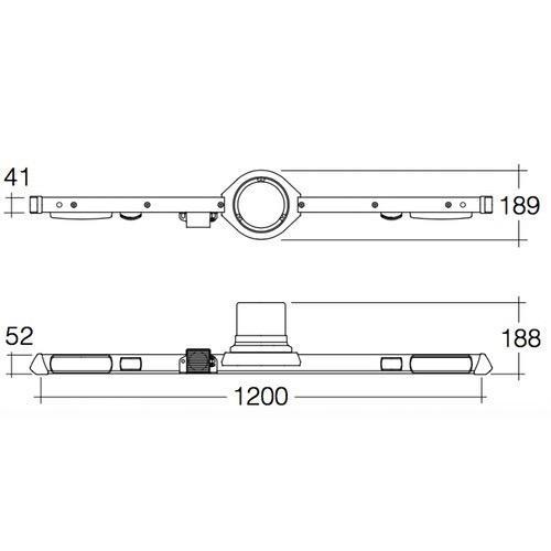 Narva 12/24V L.E.D Strobe Utility Bar - 1.2m - w/o Reversing Alarm