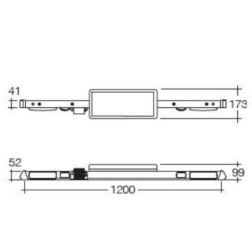 Narva 12/24V L.E.D Light Box Utility Bar - 1.2m - w/o Reversing Alarm