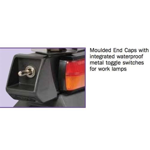 Narva 12/24V L.E.D Light Box Utility Bar - 1.2m w/ L.E.D Work Lamps (Flood Beam - 2000 Lumen)