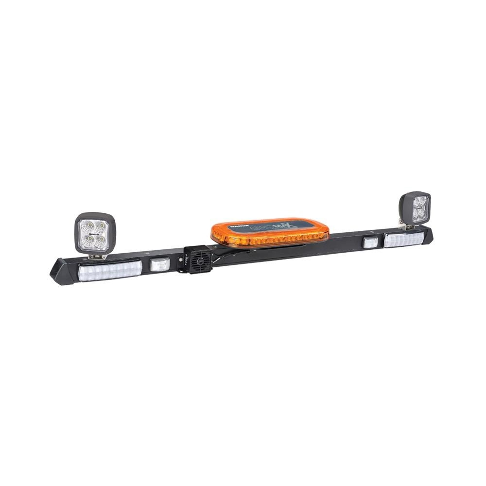 Narva 12/24V L.E.D Light Box Utility Bar - 1.2m w/ L.E.D Work Lamps (Flood Beam - 2000 Lumen) - w/ Broadband Reversing Alarm