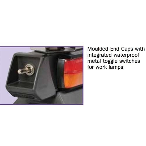 Narva 12/24V L.E.D Light Box Utility Bar - 1.2m w/ L.E.D Work Lamps (Flood Beam - 2000 Lumen) - w/ Broadband Reversing Alarm