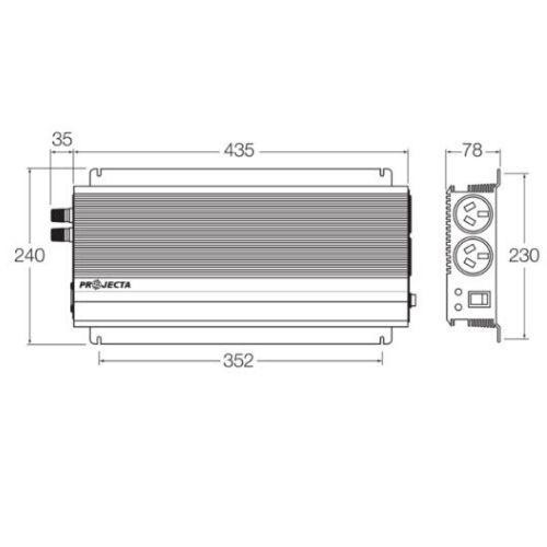 Projecta 12V 2000W Modified Sine Wave Inverter