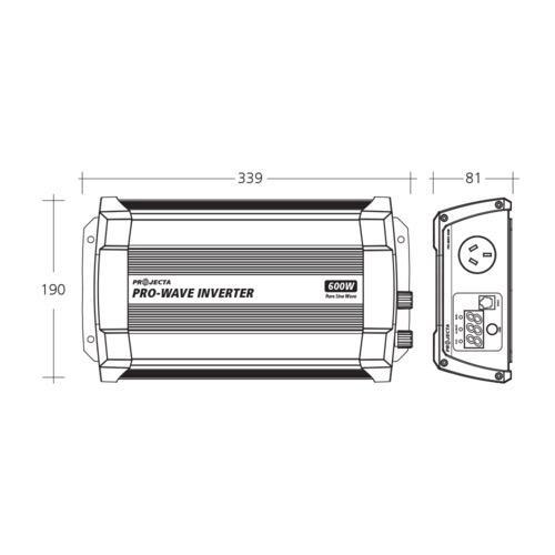 Projecta 12V 600W Pro-Wave Pure Sine Wave Inverter