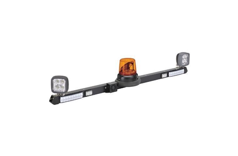 Narva 12/24V L.E.D Rotating Utility Bar - 1.2m w/ L.E.D Work Lamps (Flood Beam - 2000 Lumen)