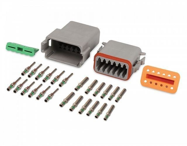 Hella 12 Pole DT Connector Set - Qty 1