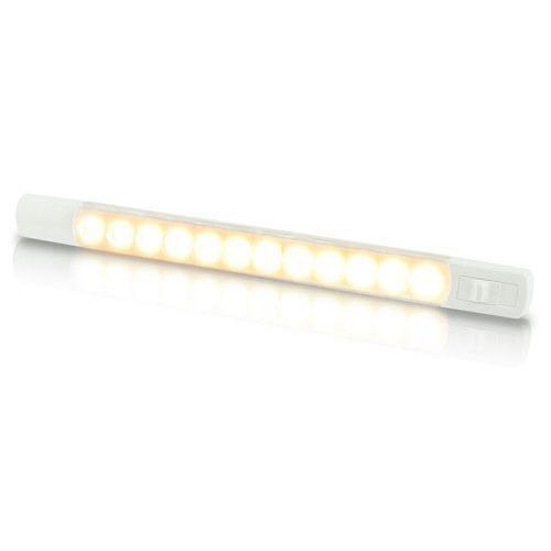 Hella 12V DC LED Surface Strip Lamp Warm White LEDs w/ Sealed Switch