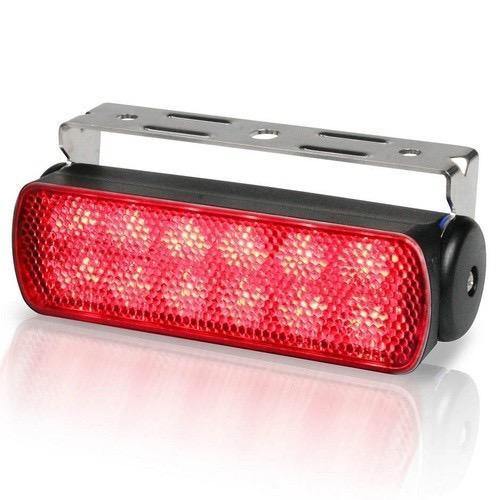 Hella 12V DC Sea Hawk LED Floodlight (Bracket Mount) Red Spread Light, Black Housing