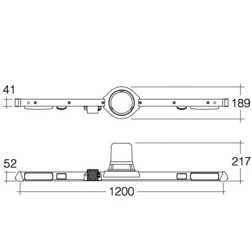 Narva 12/24V L.E.D Rotating Utility Bar - 1.2m - w/o Reversing Alarm