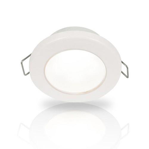 Hella White EuroLED 75 LED Down Light with Spring Clips, 12V DC, White Plastic Rim