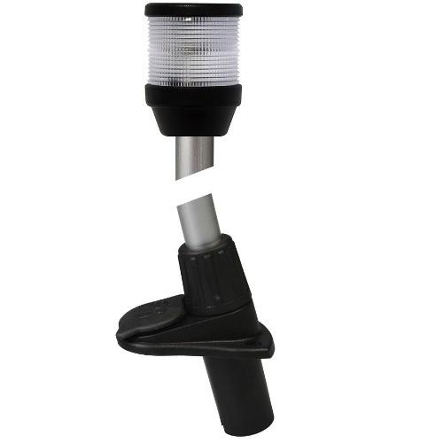 "Hella 2010 Series 2NM 12V 42"" / 1066mm Black Base Plug-In All Round White Navigation Lamp"