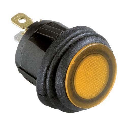 Hella Compact LED Rocker Switch - Amber Illuminated, 12V DC