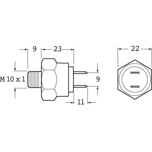 Hella Stop Lamp Switch - Hydraulic