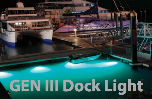 Aqualuma Dock/Marina Light and Bracket
