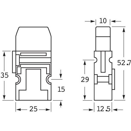 hella blade fuse box holder - 1 fuse