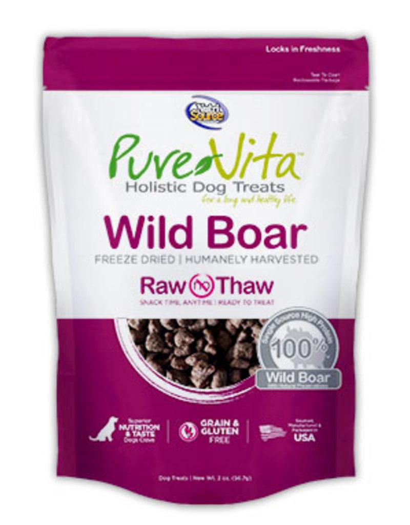 TUFFY'S Pure Vita Freeze Dried Boar Dog Treats 2oz