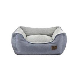 "Tall Tails Bolster Bed Charcoal Medium 24""x21""x8"""