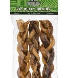 REDBARN PET PRODUCTS LLC Braided Bully Stick 7in/3pk