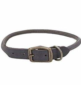 "Coastal Pet Products Coastal 1"" Rustic Rolled Leather Collar Slate Gray 24"""