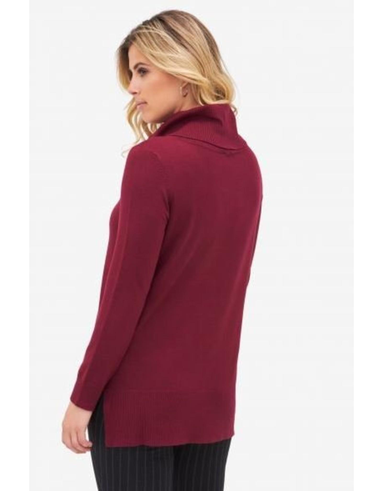 Tribal Cowl Neck Sweater Tunic L/S - FA18