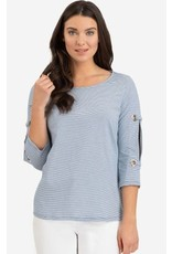 Tribal Women's 3/4 Sleeve Top with Big Eyelets - SP19