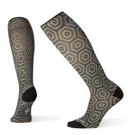 Smartwool Women's Compression Hexa-Jet Print Charcoal Medium - 19AF