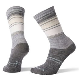 Smartwool Women's Sulawesi Stripe Crew Light Gray Large - 19AF