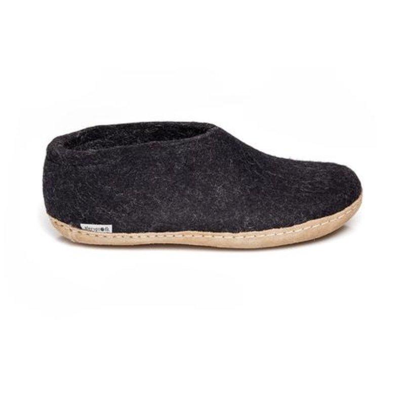 Glerups Glerup Wool Felt Slipper - Shoe Leather Bottom