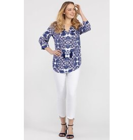 Tribal 3/ slv blouse w tie - 20ps 3826O