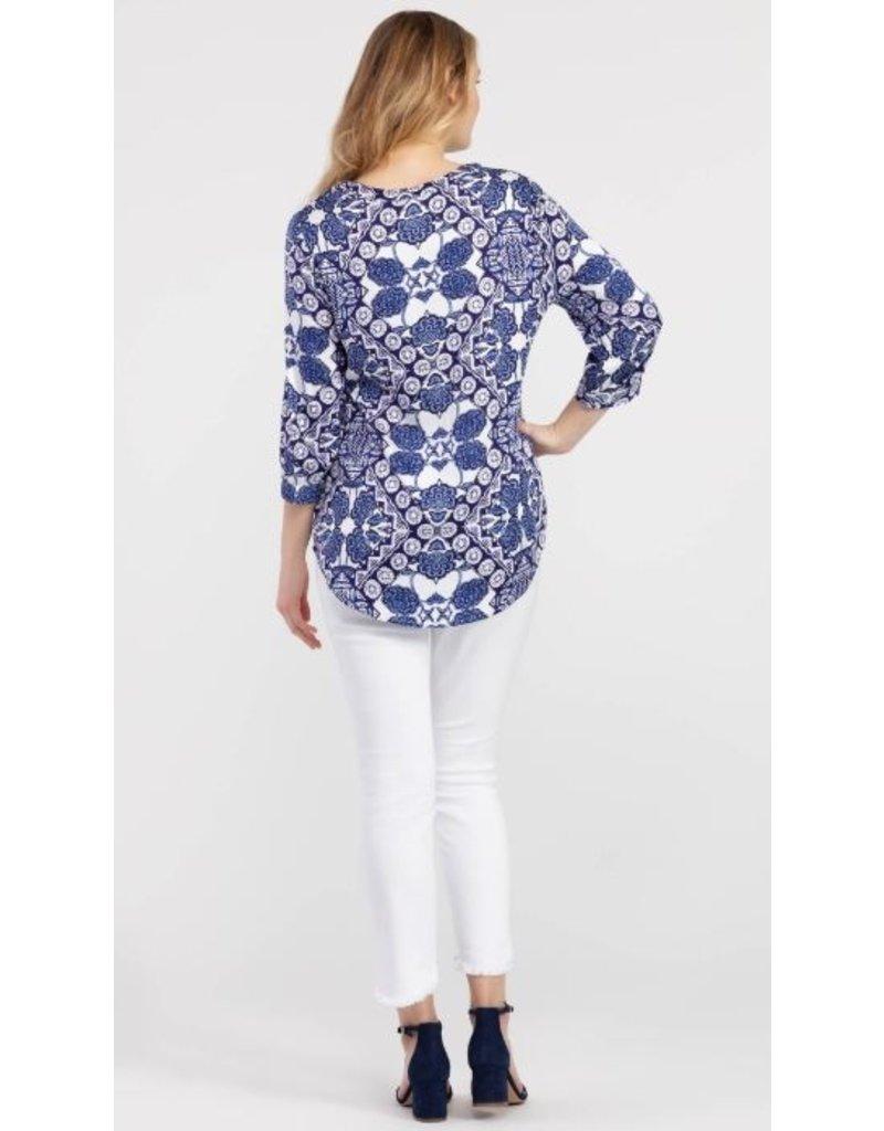 Tribal 3/ slv blouse w tie - 20ps 3826O