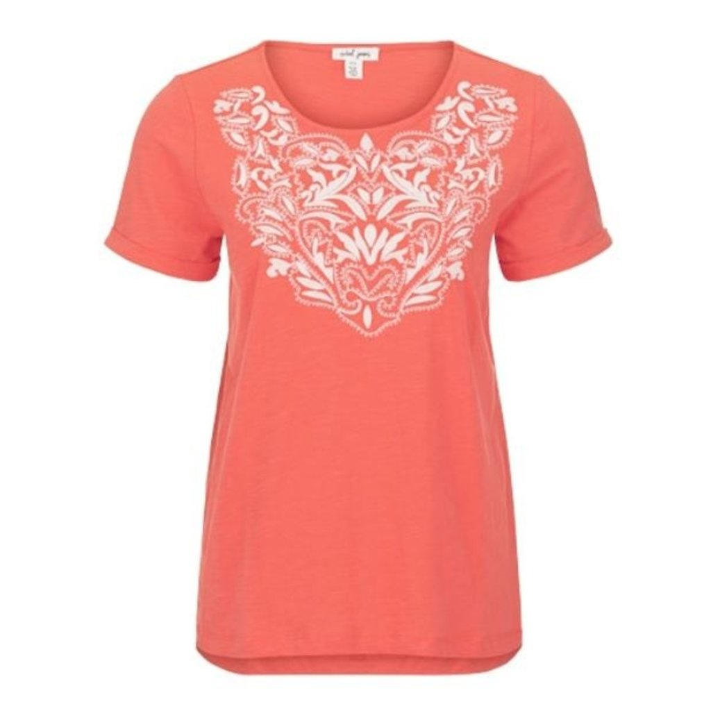 Tribal S/S Embroidered Top