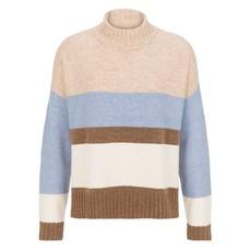 Tribal L/S Striped Mock Nk Sweater