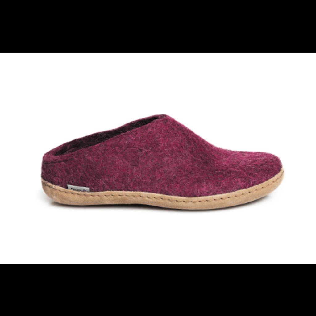 Glerups Glerup Slippers - Leather Bottom - Open Heel