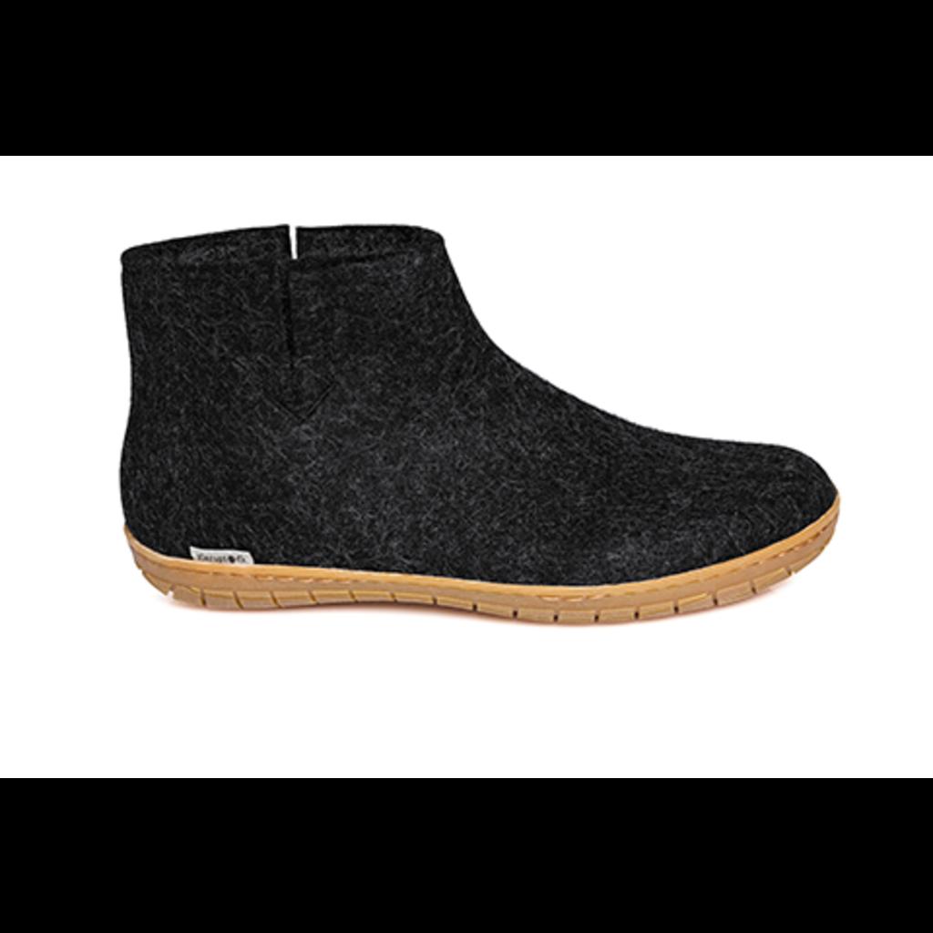 Glerups Glerup Wool Felt Boot  Slipper w Rubber Bottom