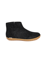 Glerups Glerup Felt Low Boot  Slipper w Rubber Bottom