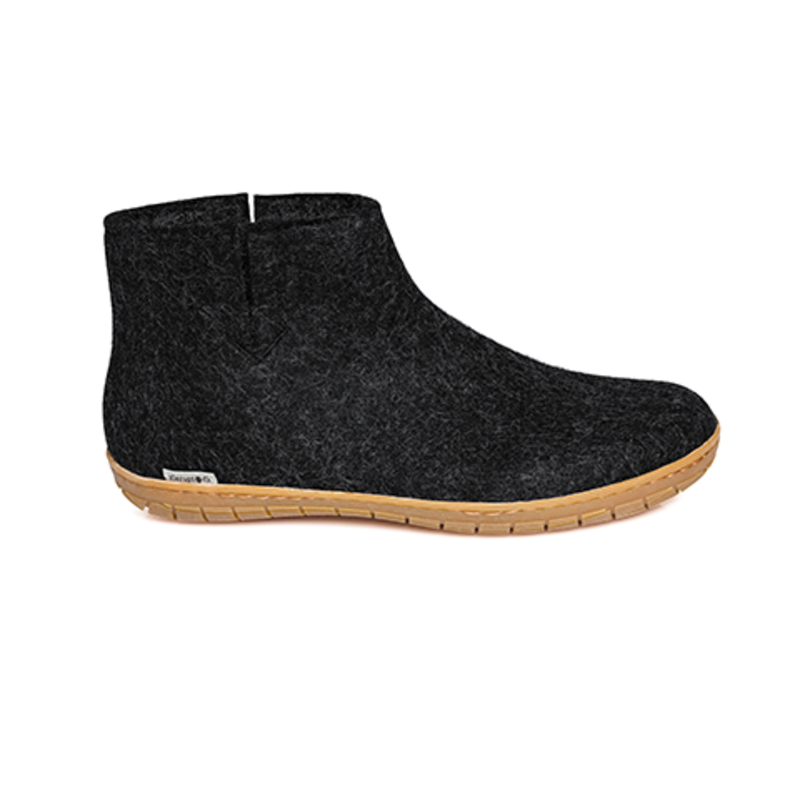 Glerups Glerup Felt Slipper - Low Boot w Rubber Bottom